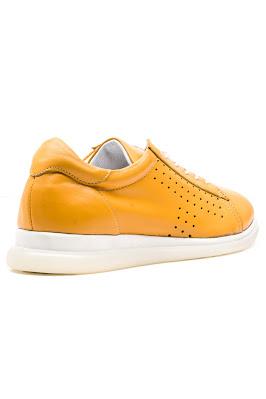 sarı deriden kadın ayakkabı