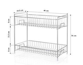 Plantex Stainless Steel 2-Tier Kitchen Rack