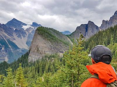 Heading up Mount St. Piran Trail, Banff