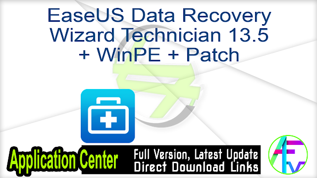 EaseUS Data Recovery Wizard Technician 13.5 + WinPE + Patch