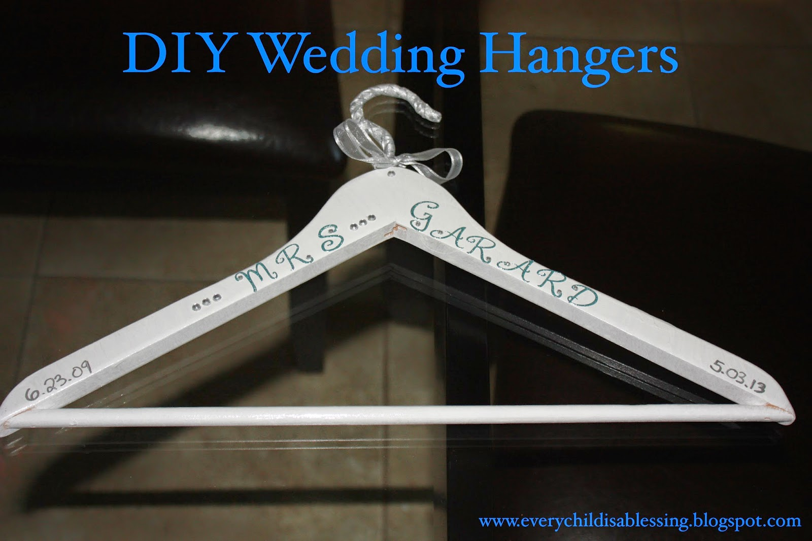 crafty mama diy wedding hangers wedding hangers