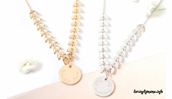 personalized mommy jewelry - Mother's Day gift suggestions - laurel necklace