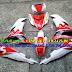 Sơn tem đấu xe Exciter 150 màu trắng đỏ Movistar