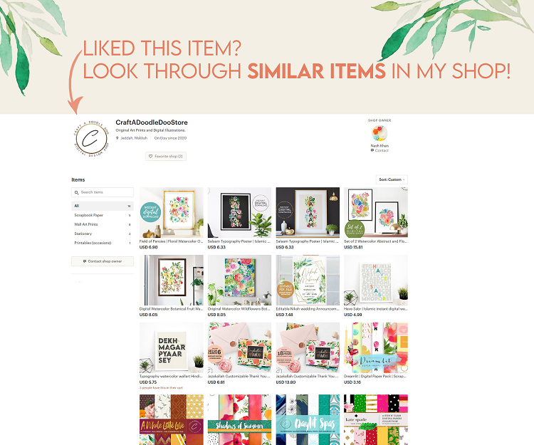 Digital Art Prints, Paper Packs and Graphic Resources by Craft A Doodle Doo