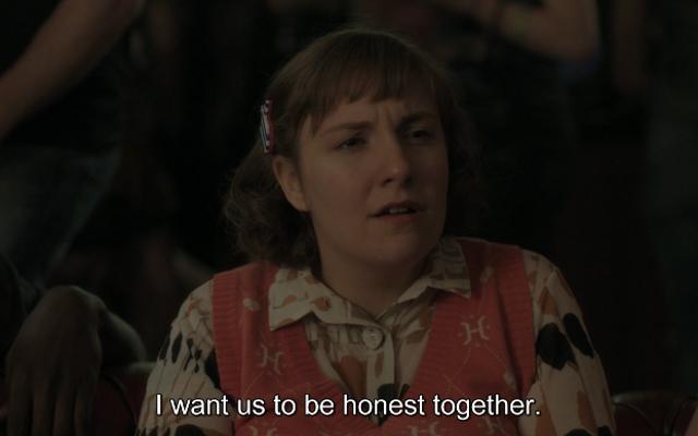 Cena de Female Author, terceiro episódio da quarta temporada de Girls