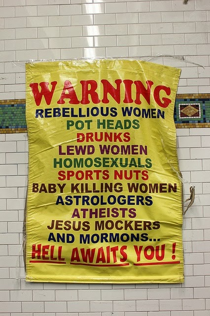 Funny Hell Warning Sign Joke Picture
