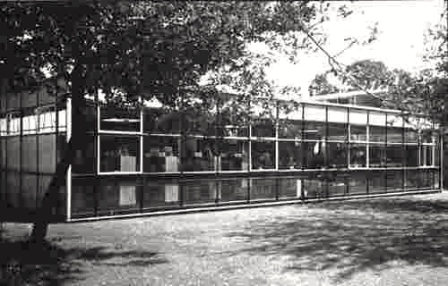 Photograph of the library block completed 1967 (photo 1988), image from Lilian Caras