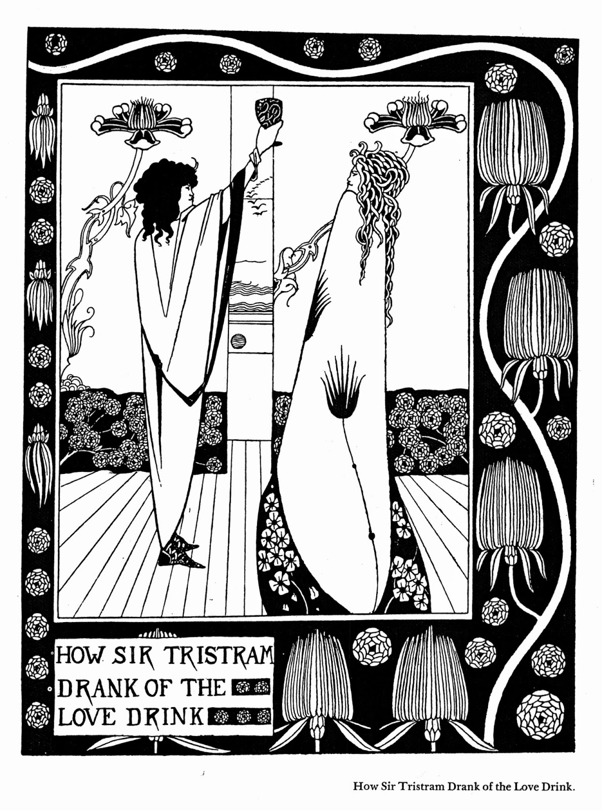Aubrey beardsley salome with her mother 1894