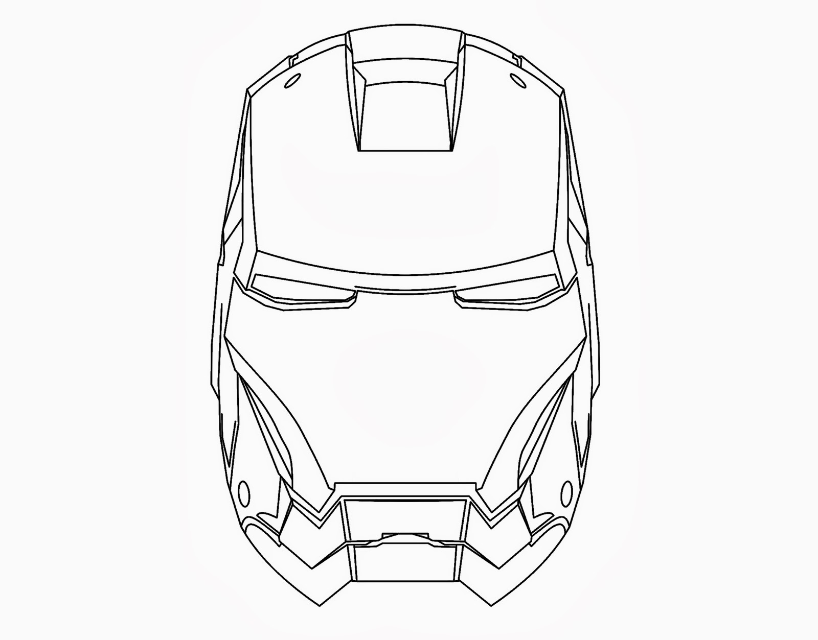 Dibujo Para Colorear De Aeroman Iron Man 3 Mark Xlvii By