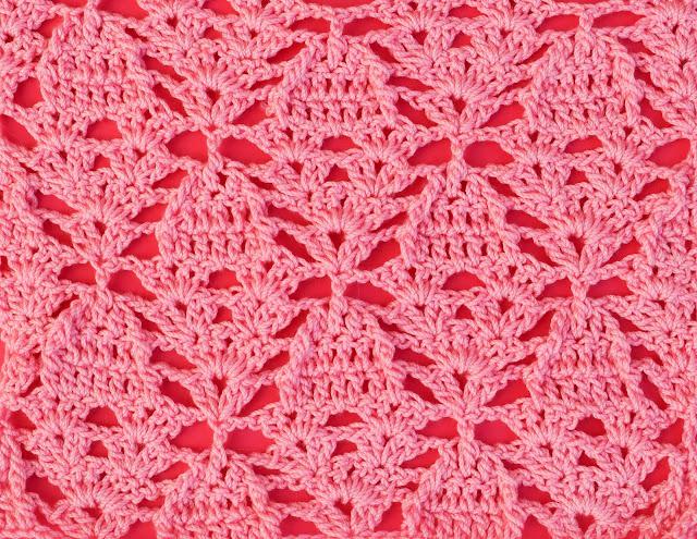 1 - Crochet Imagenes Puntada de piñas a relieve a crochet y ganchillo por Majovel Crochet
