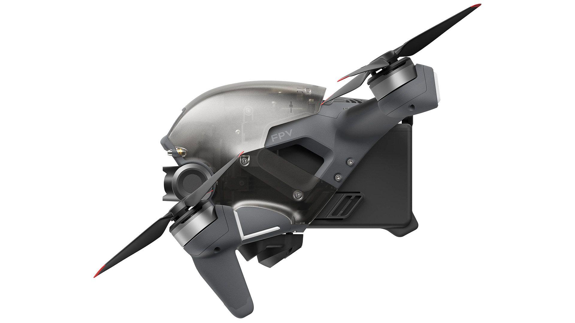 DJI FPV Drone, вид сбоку