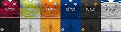PES 6 Kits Leicester City Season 2018/2019 by VillaPilla