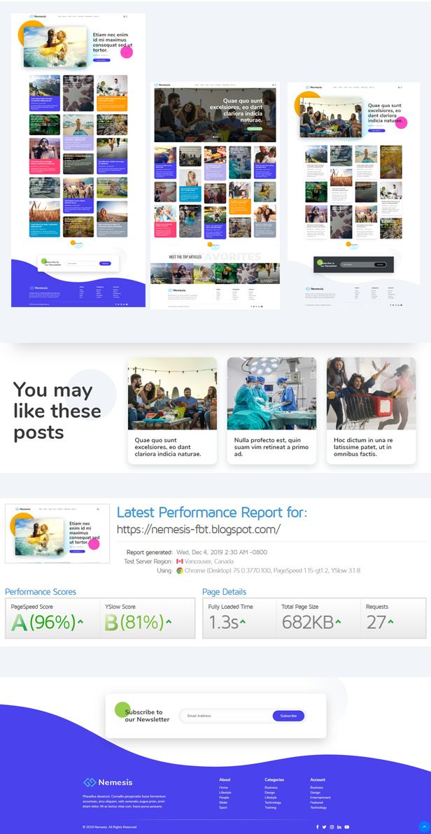 Nemesis Premium Blogger Template