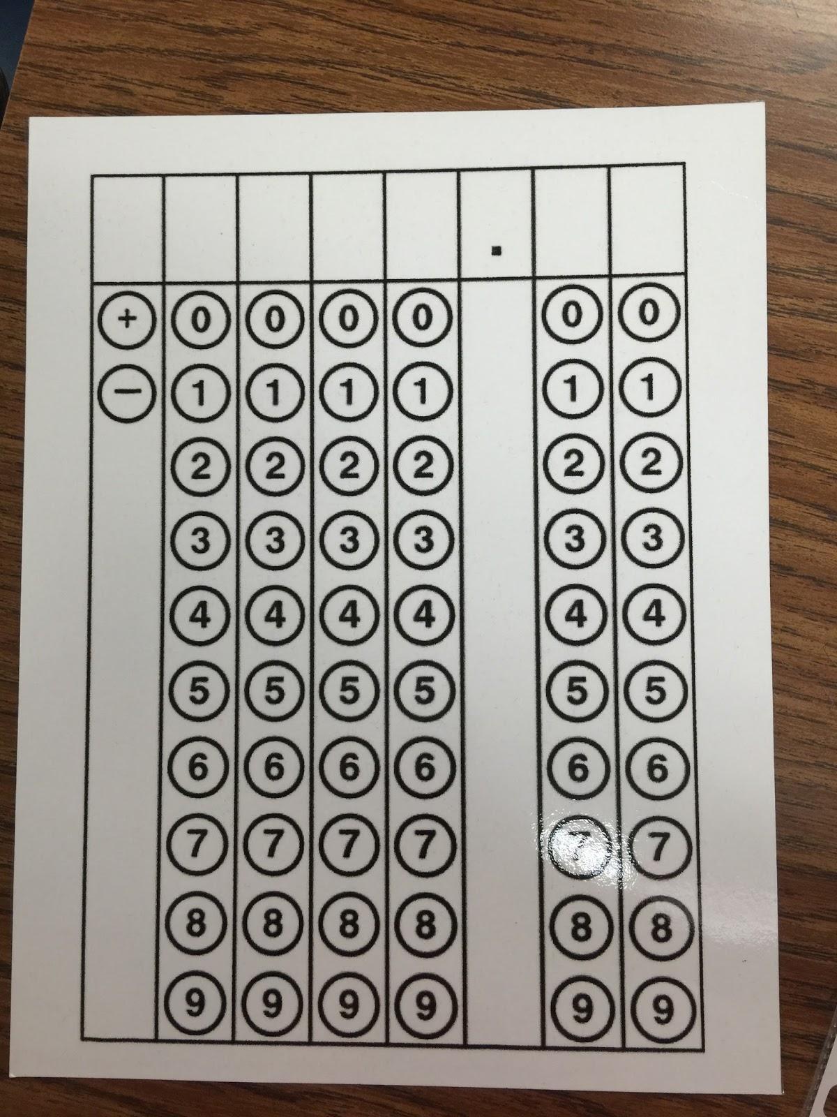 My Math Imagination Staar Test Griddables