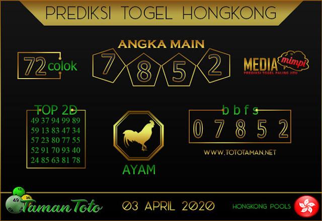 Prediksi Togel HONGKONG TAMAN TOTO 03 APRIL 2020