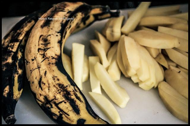 frites banane plantain