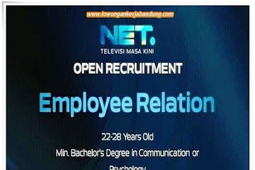 Lowongan Kerja Bandung Employee Relation Net. TV