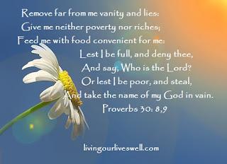 Proverbs 30:8,9