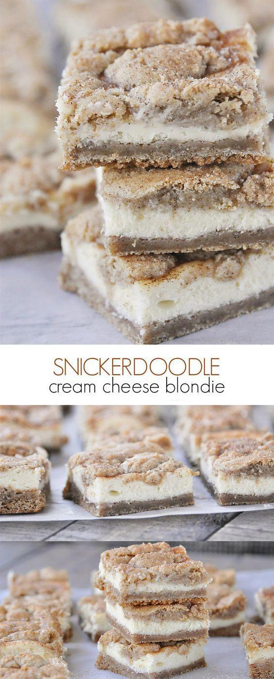 Cheesecake Snickerdoodle Blondies