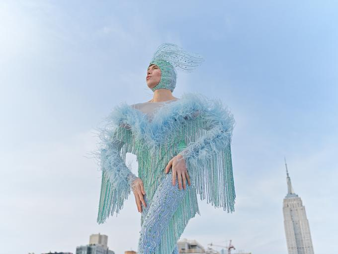 La sesión de fotos de Di Mondo en la Quinta Avenida de Nueva York