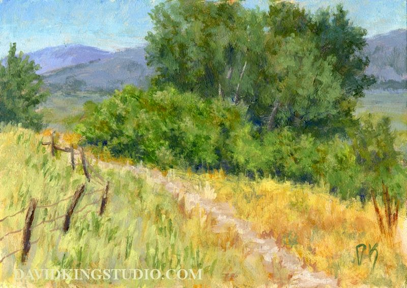 art painting landscape acrylic nature trail path rural