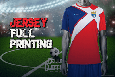 Bikin Jersey Full Printing Full Set Atasan dan Celana Unlimited Color