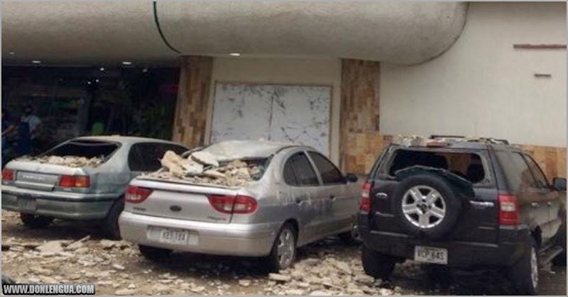 Se derrumbó el techo de un Centro Comercial en Barquisimeto