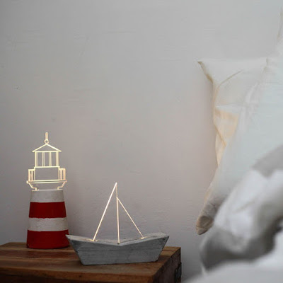 Nautical Bedside Lamp Set