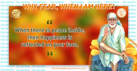 Happiness - Sai Baba Sitting On Stone Painting Image