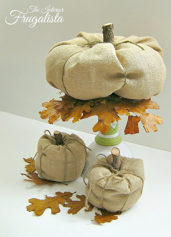 DIY Fall Burlap Pumpkin Ideas