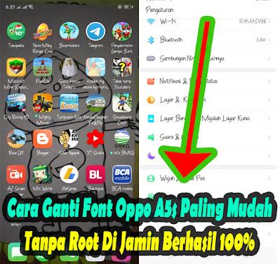 Cara, Ganti, Font, Di, Hp, Oppo A5s, Oppo A3s, Tanpa Root, dafont, oppo, merubah, huruf, tutorial, android, terbaru,
