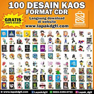 GRATIS 100 DESAIN KAOS