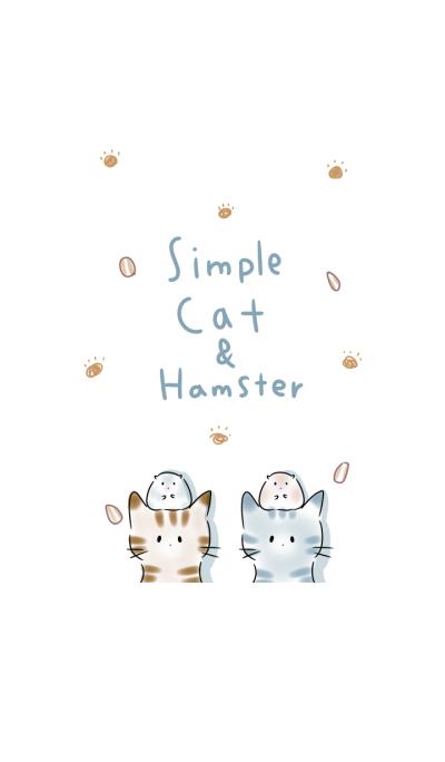 simple cat hamster.