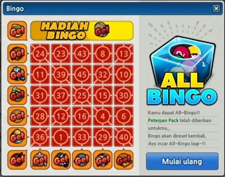 Bingo Anniversary LostSaga Reward ALL BINGO