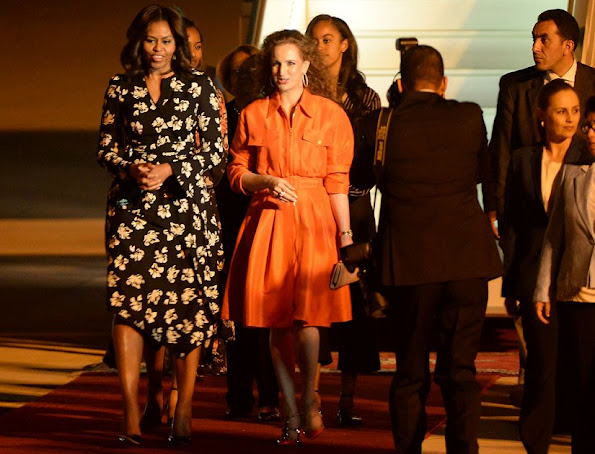 Princess Lalla Selma of Morocco welcomes Michelle Obama and daughters Malia and Sasha