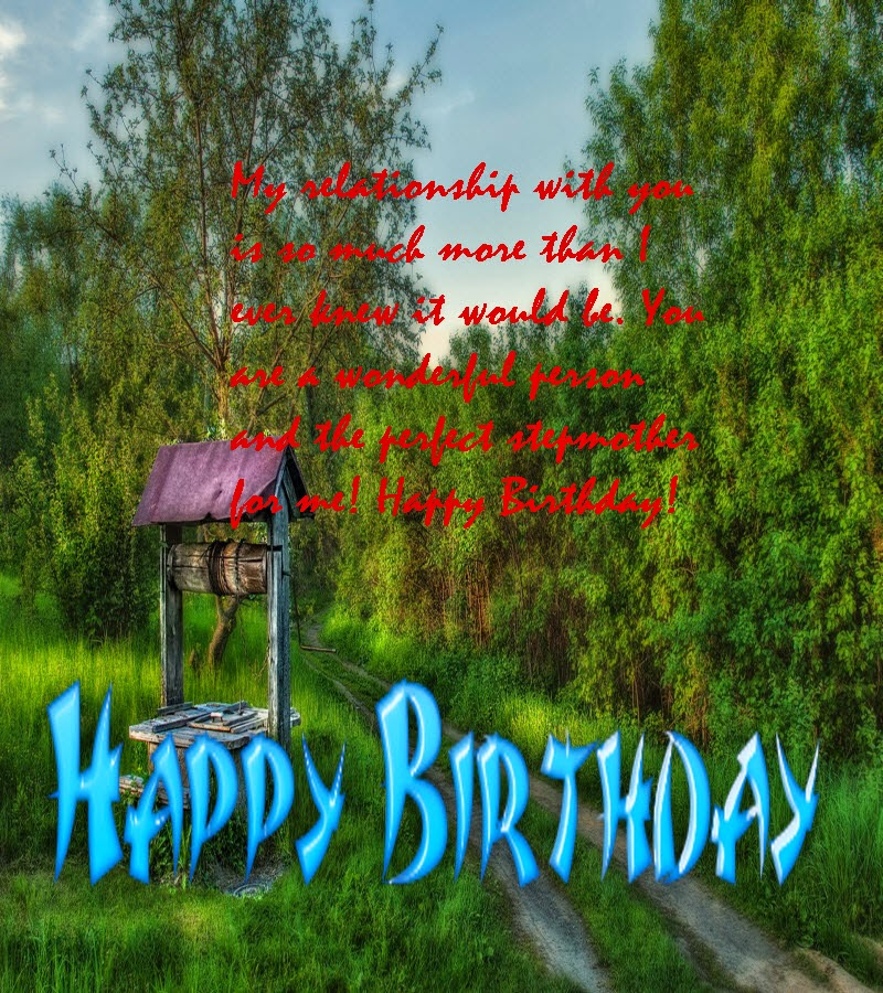 Birthday Message For Stepmother- Birthday Message And
