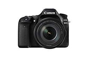 Canon EOS 80D SLR-Digitalkamera (24,2 Megapixel, 7,7 cm (3,0 Zoll) Display, Full HD, NFC und WLAN) schwarz