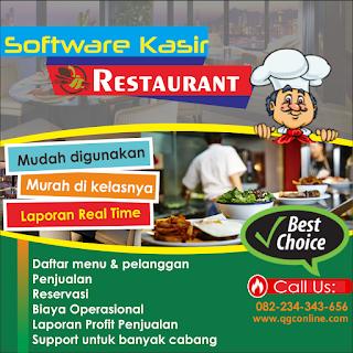 Jual aplikasi software kasir restaurant,  rumah makan/cafe
