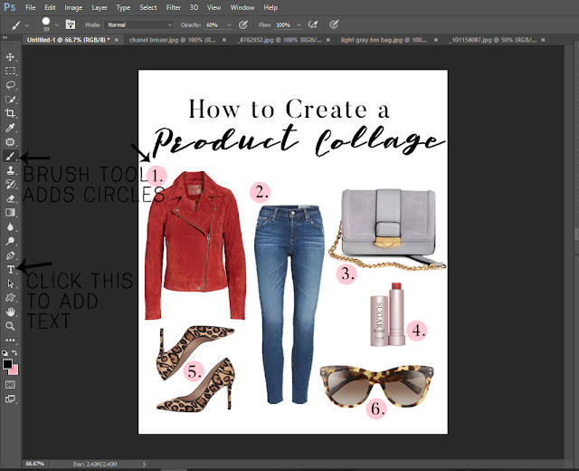 how to make a product collage, how to make a product wishlist, product collage tutorial