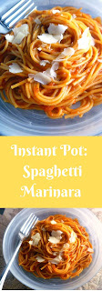 Get a delicious flavor packed meal on the table in no time with this comforting Instant Pot Spaghetti Marinara! - Slice of Southern