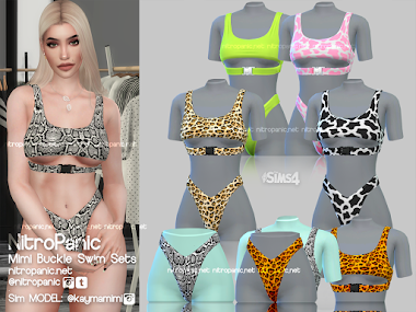 Mimi Buckle Swim Set for The Sims 4