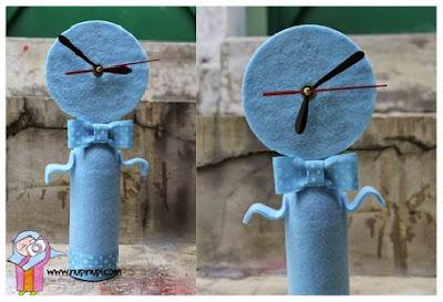 Kreasi Membuat Jam Unik Dari Botol Dan VCD Bekas