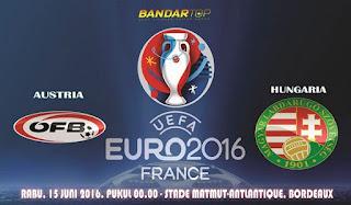 prediksi pertandingan austria vs hungaria piala eropa 2016