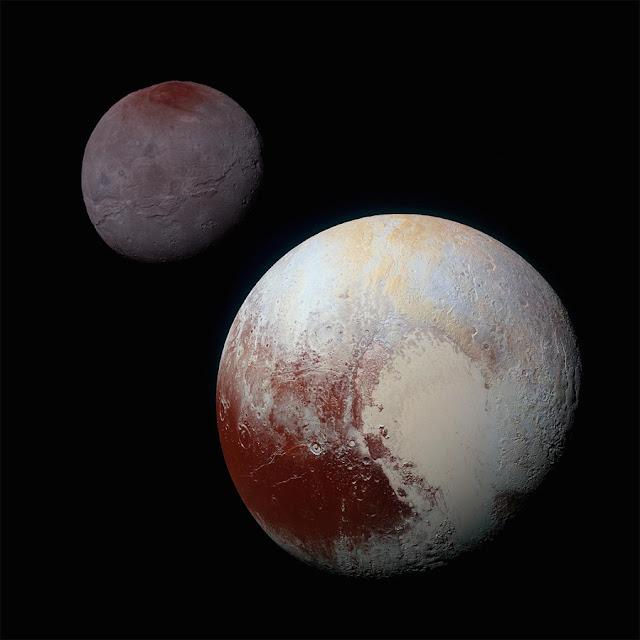 Plutão e Caronte - NASA