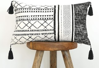 black and white modern pillow cover