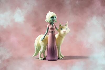 Astra & Orbit Pink & White Edition Vinyl Figure Set by Tara McPherson x Kidrobot