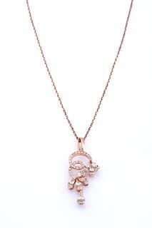 Entice Emilie Collection_ Diamond studded rose gold pendant-