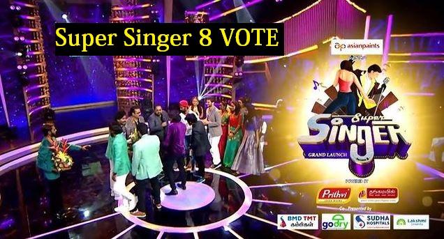 super singer 8 vote