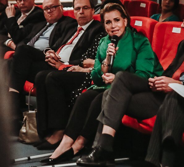 Grand Duchess Maria Teresa attended the Special Screenings at the Ville de Luxembourg as part of International Human Rights Day