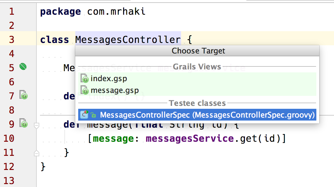 Grails Goodness: Go To Related Classes In IntelliJ IDEA
